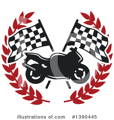 Motorcycle Clipart #1390445 by Vector Tradition SM