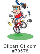 Mountain Biker Clipart #70678 by jtoons