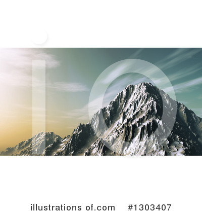 Royalty-Free (RF) Mountains Clipart Illustration by KJ Pargeter - Stock Sample #1303407