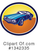 Muscle Car Clipart #1342335 by patrimonio