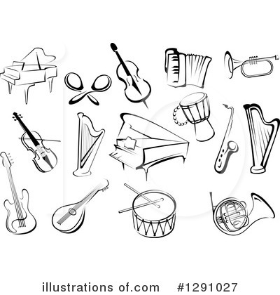 Musical Instrument Clipart #1291027 - Illustration by Vector ...