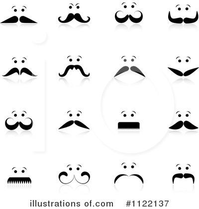 Mustache Clipart #1122137 - Illustration by KJ Pargeter