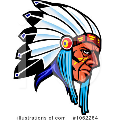 Native American Clipart #1062264 - Illustration by Vector Tradition SM