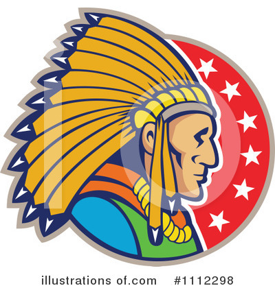 Royalty-Free (RF) Native American Clipart Illustration by patrimonio - Stock Sample #1112298