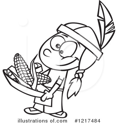 Native American Clipart #1217484 - Illustration by toonaday