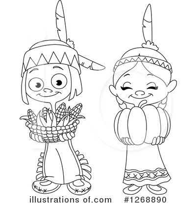 Native American Clipart #1268890 - Illustration by yayayoyo