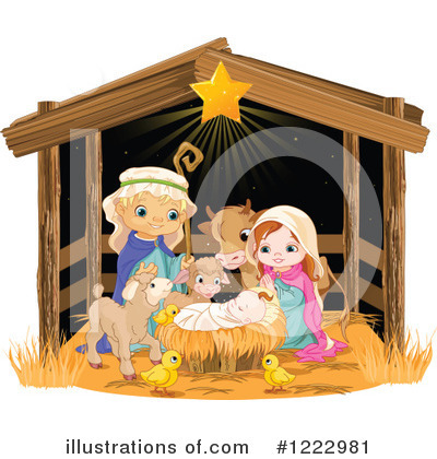 Nativity Clipart #1222981 by Pushkin