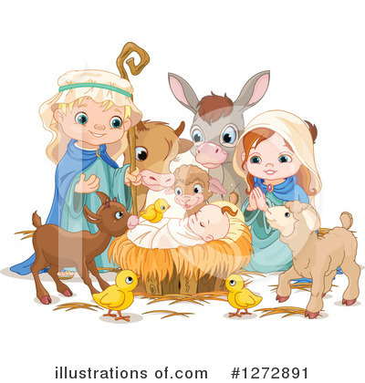 Royalty-Free (RF) Nativity Clipart Illustration by Pushkin - Stock Sample #1272891