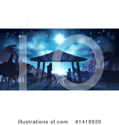Nativity Clipart #1418930 by AtStockIllustration
