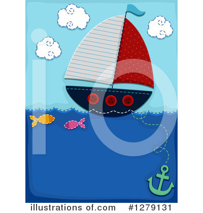 Sailboat Clipart #1279131 by BNP Design Studio