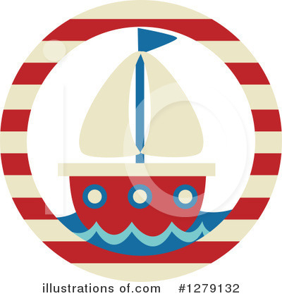 Sailboat Clipart #1279132 by BNP Design Studio