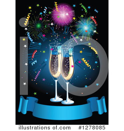 Champagne Clipart #1278085 by Pushkin
