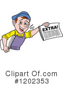 News Clipart #1202353 by LaffToon