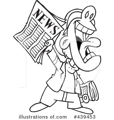 News Clipart #439453 - Illustration by toonaday