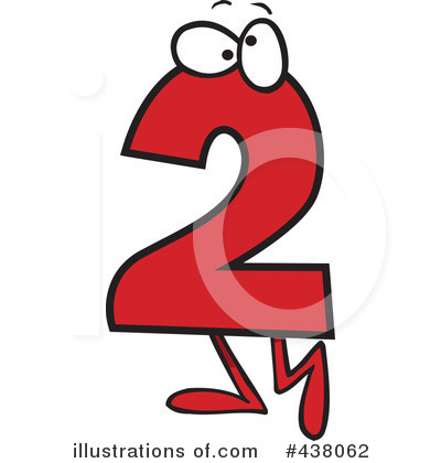 number two clipart 438062 illustration by toonaday rh illustrationsof com number 2 birthday clipart number 2 birthday clipart