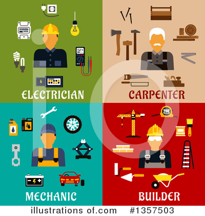 Electrician Clipart #1357503 by Vector Tradition SM