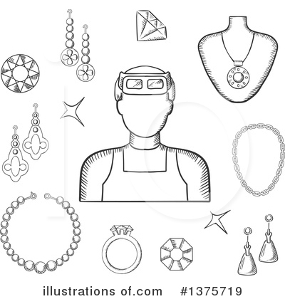 Jewelry Clipart #1375719 by Vector Tradition SM