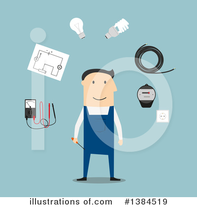 Electrician Clipart #1384519 by Vector Tradition SM