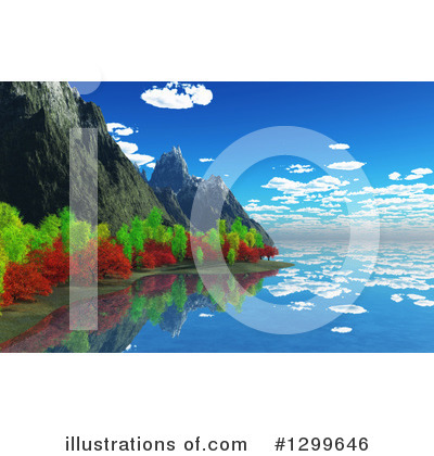 Mountains Clipart #1299646 by KJ Pargeter