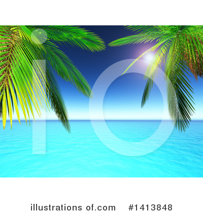 Beach Clipart #1413848 by KJ Pargeter