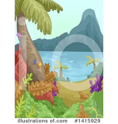 Palm Trees Clipart #1415929 by BNP Design Studio
