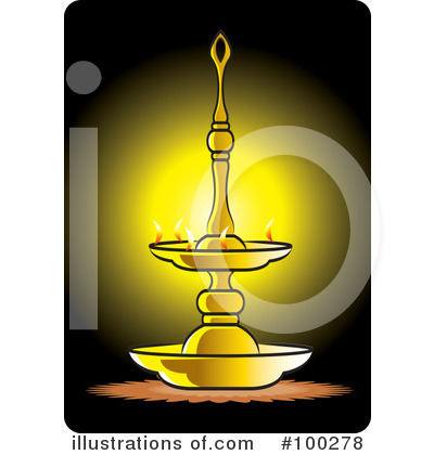 Royalty Free (RF) Oil Lamp Clipart Illustration By Lal Perera   Stock Sample