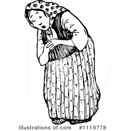 Royalty Free RF Old Woman Clipart Illustration By Prawny Vintage