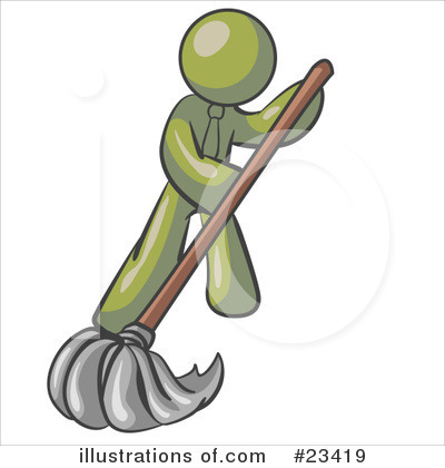 Cleaning Clipart #23419 by Leo Blanchette