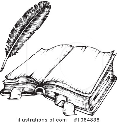 Open Book Clipart #1084838 by visekart