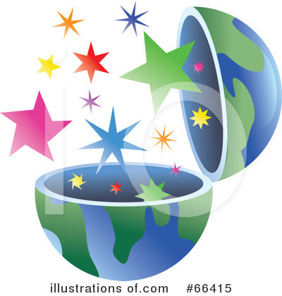 Royalty-Free (RF) Open Globe Clipart Illustration by Prawny - Stock Sample #66415