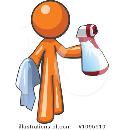 Royalty-Free (RF) Orange Man Clipart Illustration by Leo Blanchette - Stock Sample #1095910