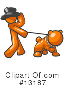 Orange Man Clipart #13187 by Leo Blanchette