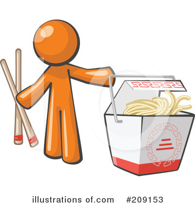 Orange Man Clipart #209153 by Leo Blanchette