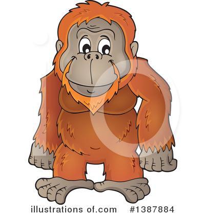 orangutan clipart 1387884 illustration by visekart rh illustrationsof com free clipart orangutan cute orangutan clipart