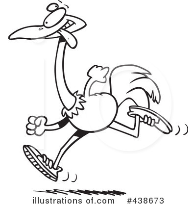 Ostrich Clipart #438673 - Illustration by Ron Leishman