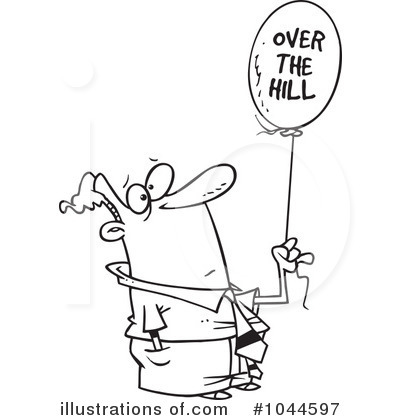 Over The Hill Clipart 1044597