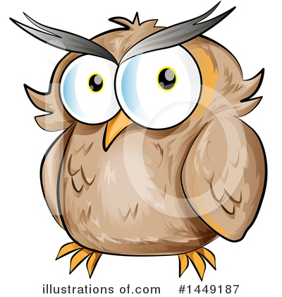 Owl Clipart #1449187 by Domenico Condello