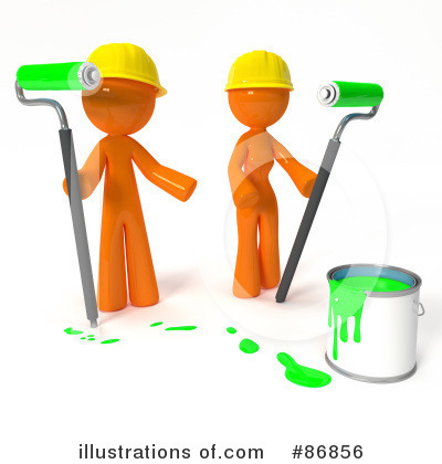 Orange Man Clipart #86856 by Leo Blanchette