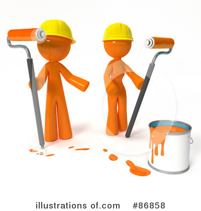 Orange Man Clipart #86858 by Leo Blanchette