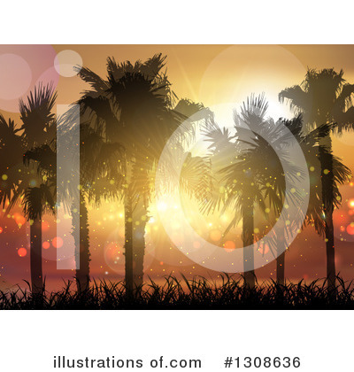 Palm Trees Clipart #1308636 by KJ Pargeter