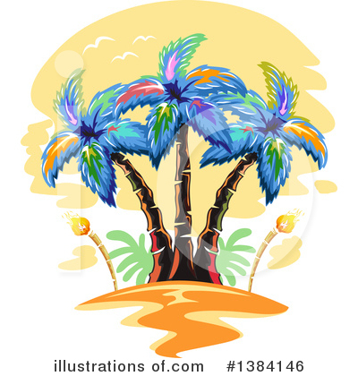 Royalty-Free (RF) Palm Trees Clipart Illustration by BNP Design Studio - Stock Sample #1384146