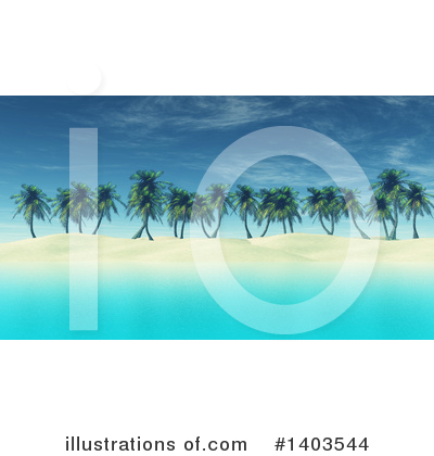 Palm Trees Clipart #1403544 by KJ Pargeter