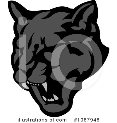 Panther Clipart #1087948 by Chromaco