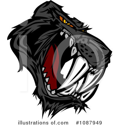 Royalty-Free (RF) Panther Clipart Illustration by Chromaco - Stock Sample #1087949