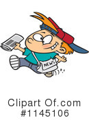 Paper Boy Clipart #1145106 by toonaday