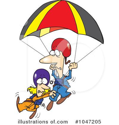 Clip Art Parachute Clipart parachute clipart 1047205 illustration by ron leishman royalty free rf leishman
