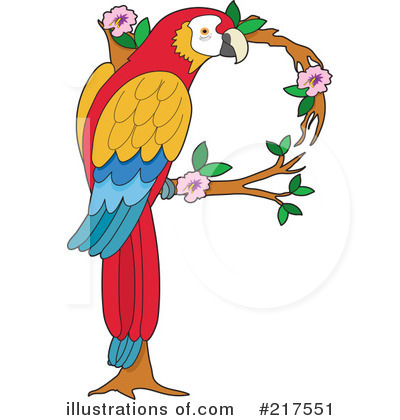 Parrot Clipart #217551 - Illustration by Maria Bell