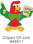 Parrot Mascot Clipart #49611 by Toons4Biz
