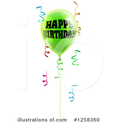 Party Balloons Clipart #1258360 by AtStockIllustration
