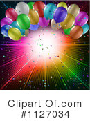 Party Balloons Clipart #1127034 by KJ Pargeter